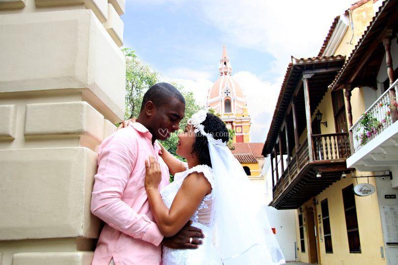 Felices recién casados
