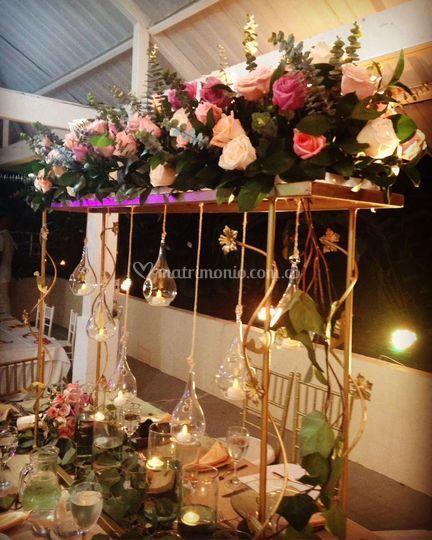 Centro de mesa-boda campestre