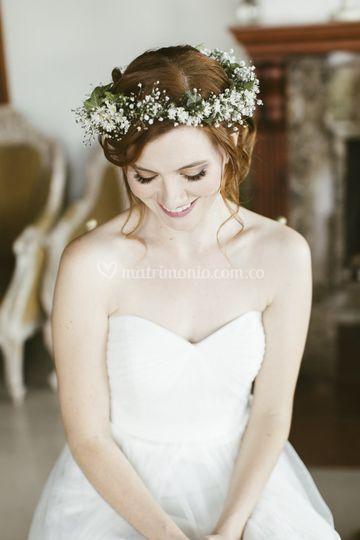 Peinado de la novia