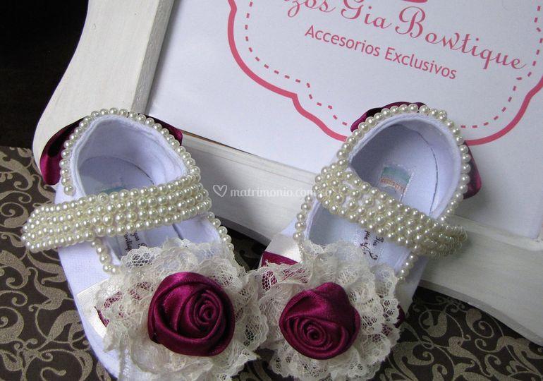 Zapatos Bordados para Pajesita