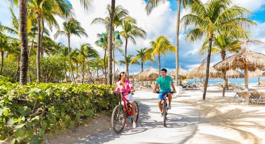 Un paseo en bici por Aruba