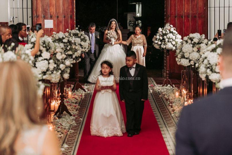 La entrada de la novia