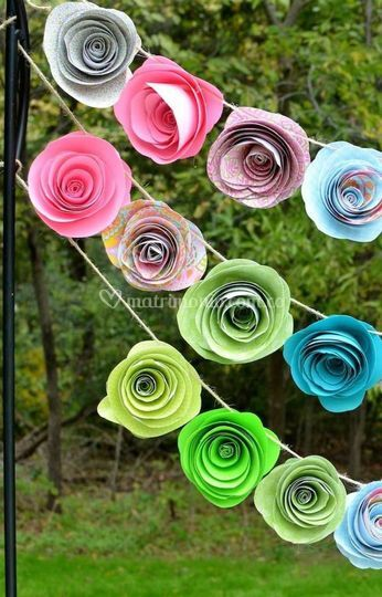 Guirnaldas rosas
