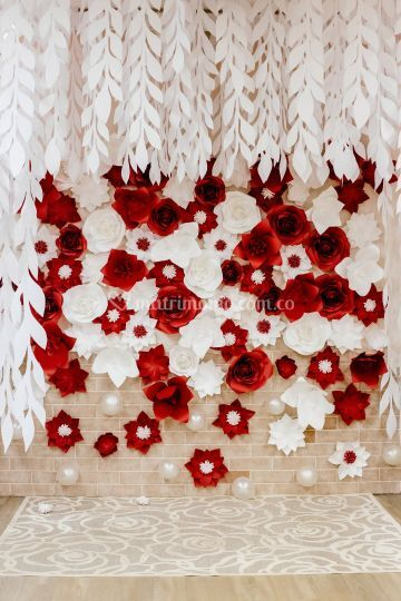 Flores pared y techo