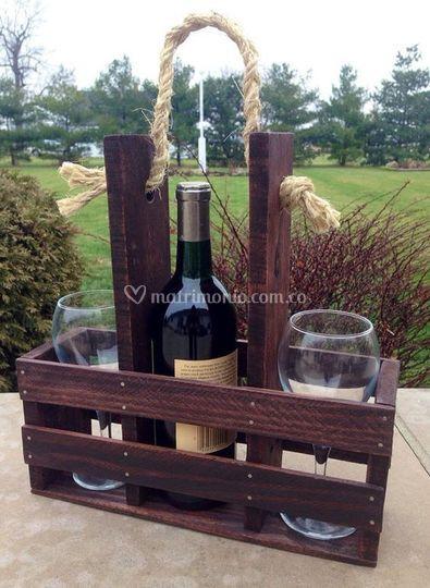 Canastilla para vino