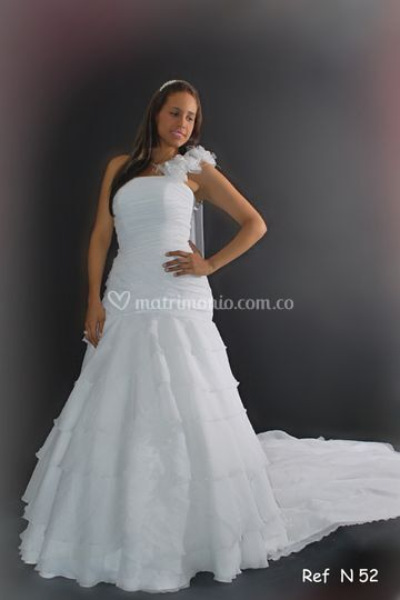 Vestido blanco un solo hombro