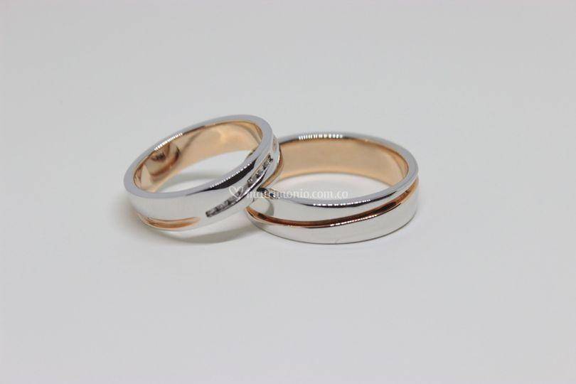 Oro blanco- oro rosa