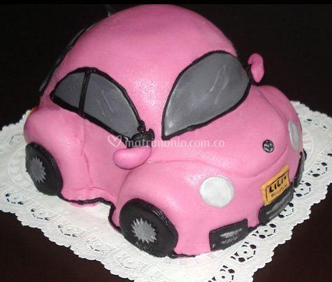 Auto crema rosa