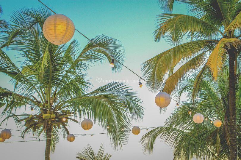 Cielo de globos chinos