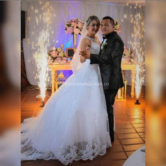 Vestido de novia en encaje