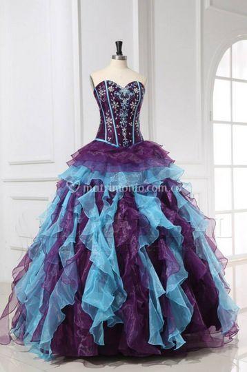 Hermoso vestido en dos tonos
