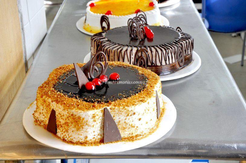 Torta de caramelo y chocolate