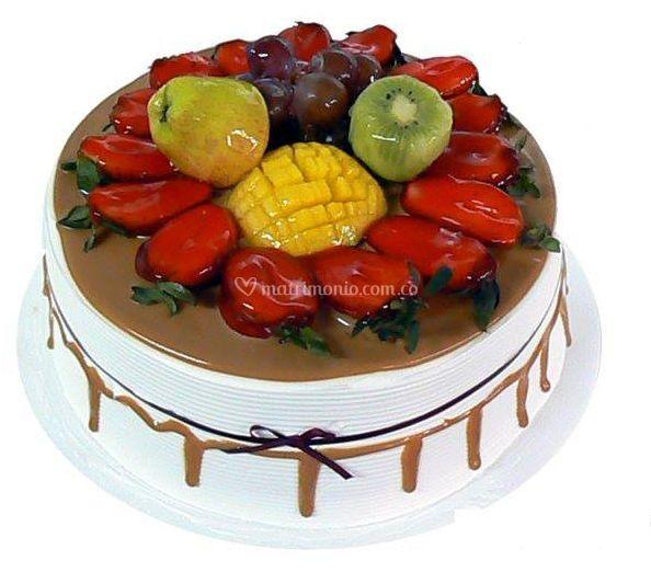 Pasteles con frutas