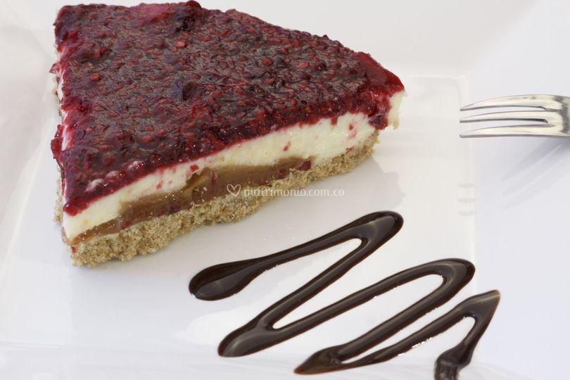 Cheesecake moras con arequipe