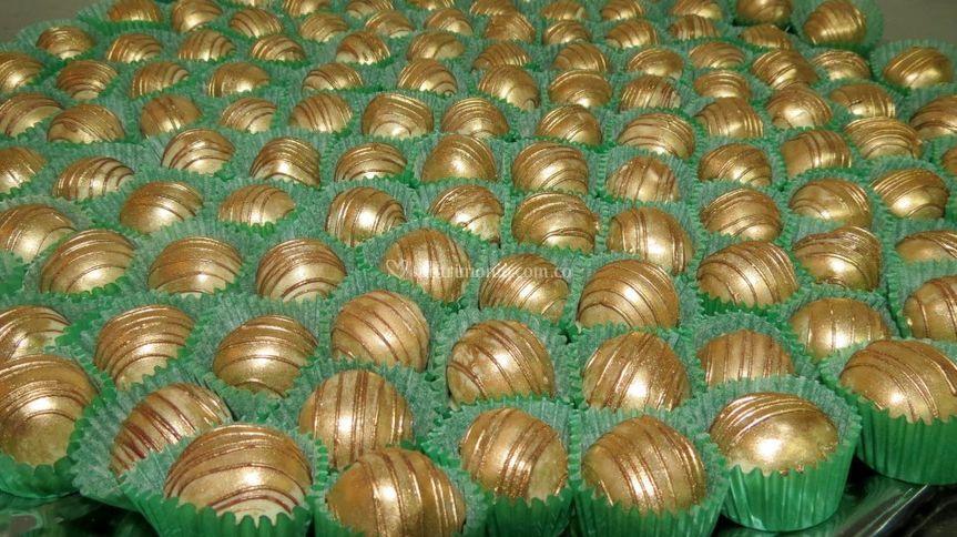 Exquisitas trufas de chocolate