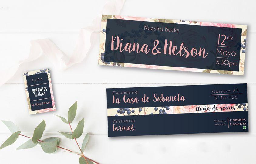 Invitaciones vales para bodas