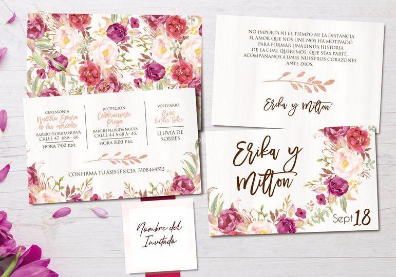 Diseño de tarjeta matrimonio