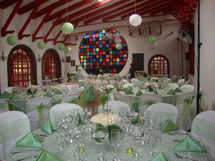 Interior salón El Rubí