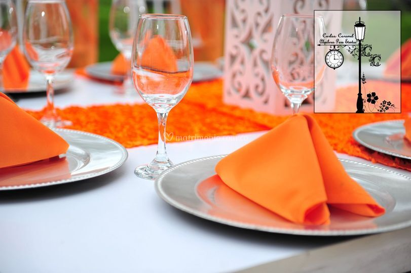 Decoración color naranja