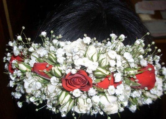 Peine para el cabello en flores