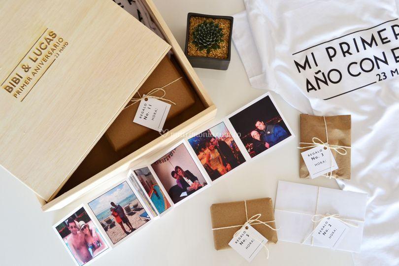 Caja de aniversario novios