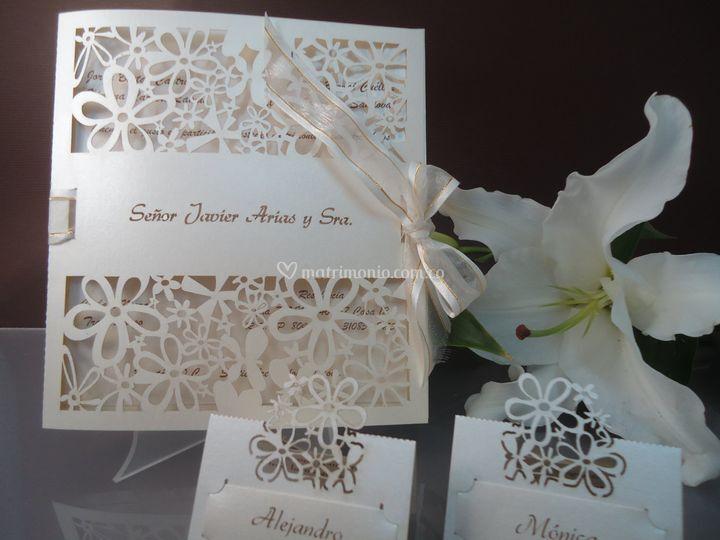 Corte laser flores