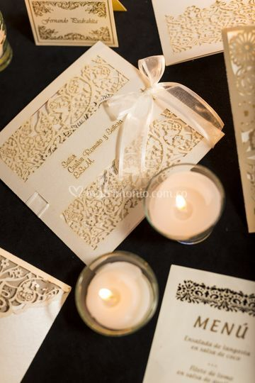 Invitación matrimonio romántica