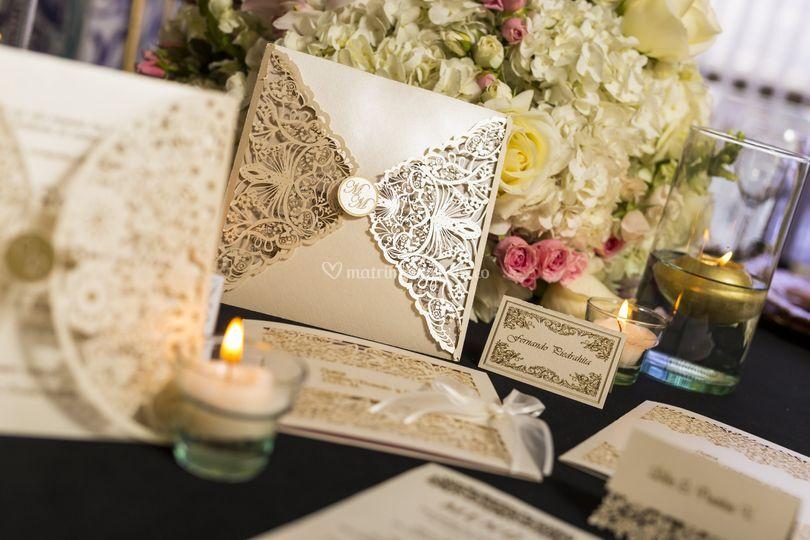 Tarjeta matrimonio laser