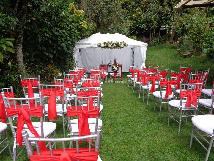 Organización para la ceremonia
