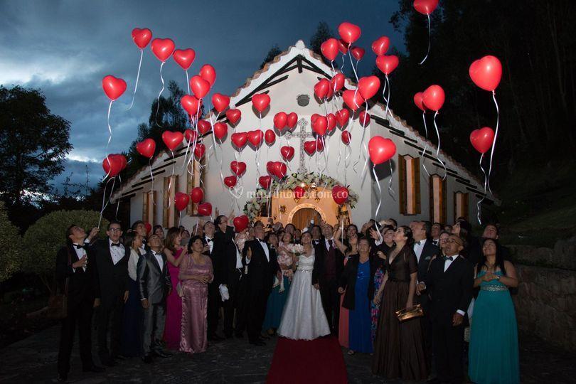 Globos con helio para bodas