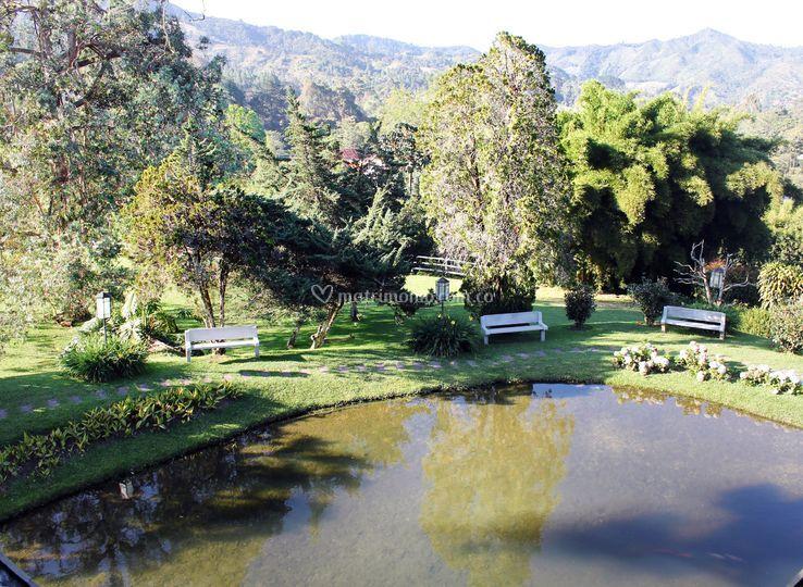 Vista al lago privado