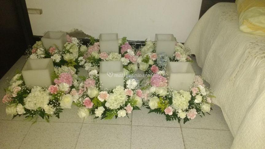Fanales con flores