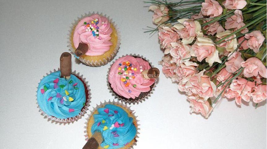 Cupcakes y flores