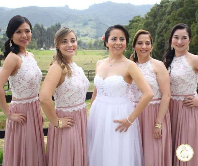 Novia y Damas de honor