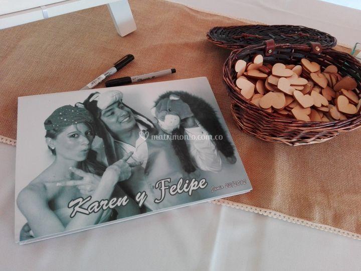 Álbum de recuerdos boda