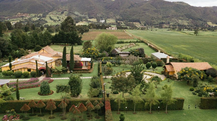 Vista panorámica hacienda.
