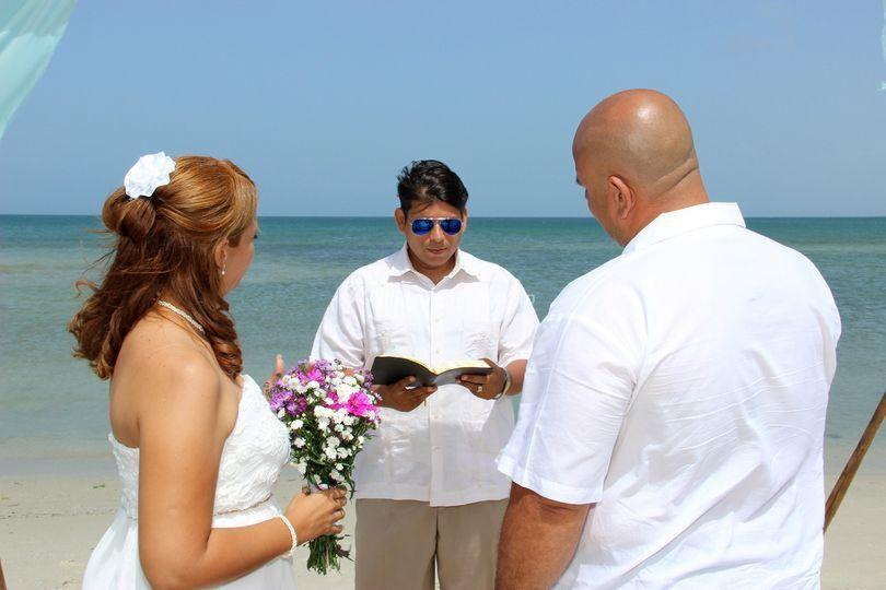 En plena ceremonia