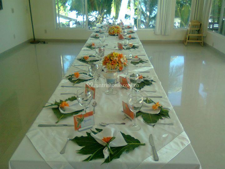 Mesas cena salón privado