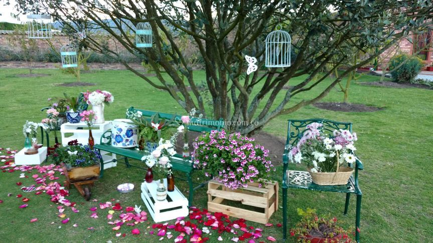 Hacienda el trebolito for Jardines vintage