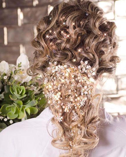 Peinado con Cristales