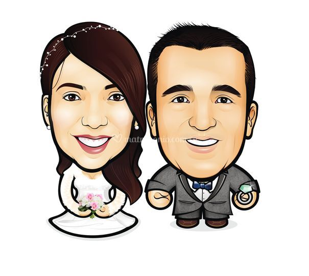 Caricatura para matrimonios