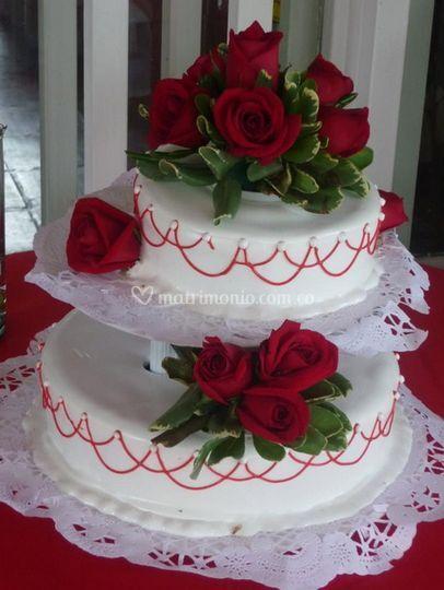 Decorado con rosas