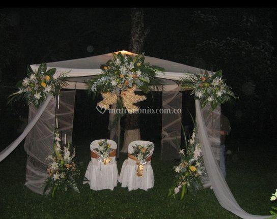 Bella decoración lugar de la boda