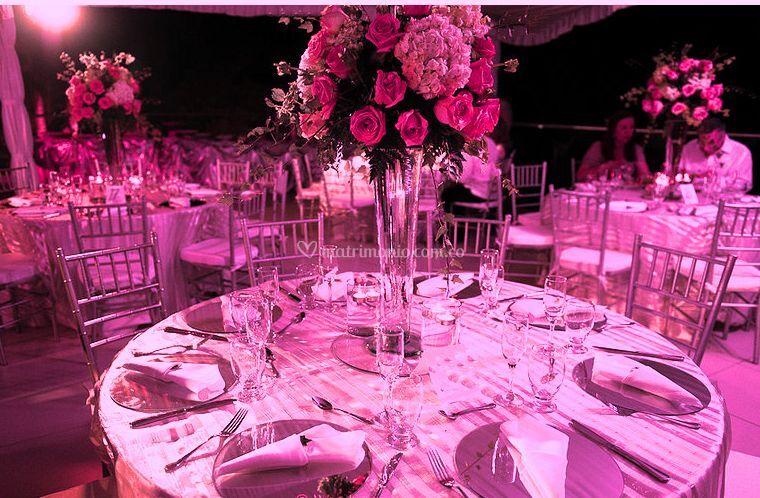 Floreros cristal centros mesa