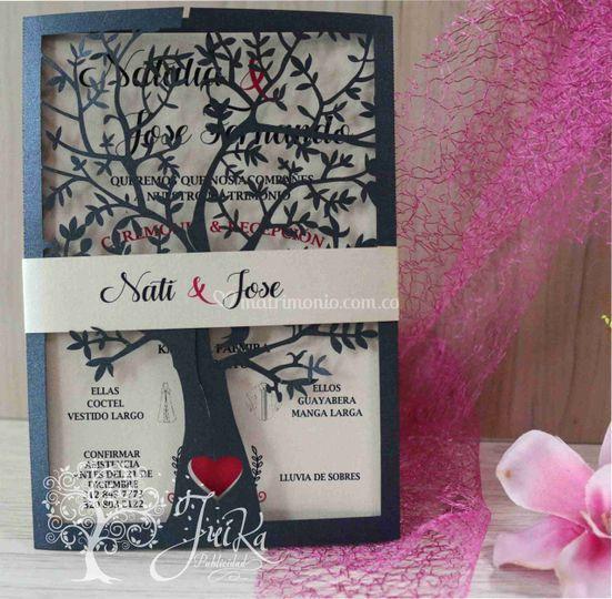 Invitación árbol corazón