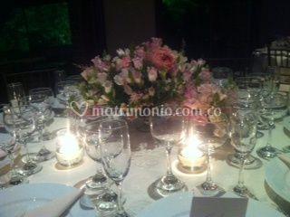 Centros de mesa en rosas