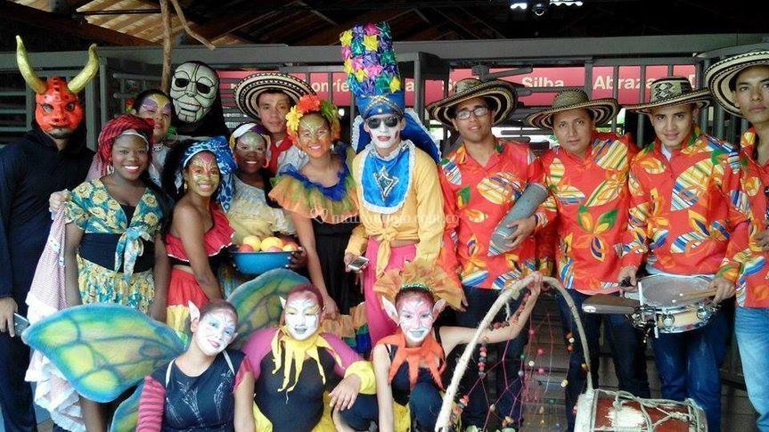 Zanqueros, bailarinas