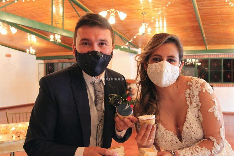 Novios boda en pandemia