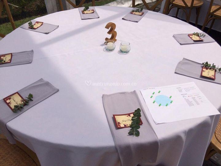 Decoración en mesas