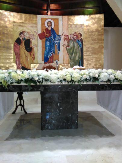 Altar iglesia la visitación